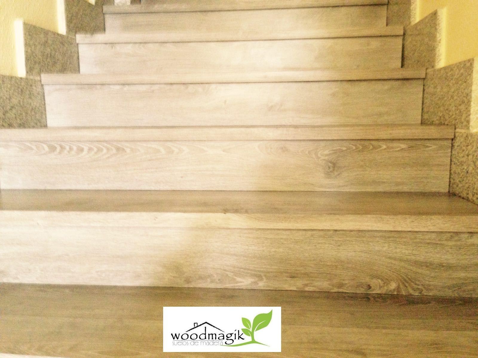 Escaleras forradas con suelo de vinilo en Madrid