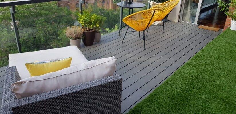 Instalación de tarima exterior composite en Madrid