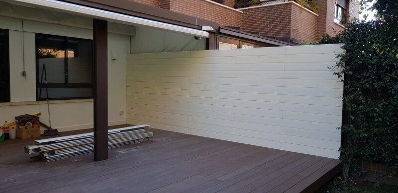 Instalación de tarima exterior en Pozuelo
